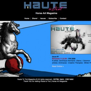 Haute to Trot Horse Art Magazine Website code and design by Erica Franz