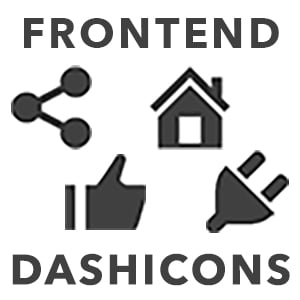 Use Frontend Dashicons plugin to add the Dashicons icon font to the frontend of your site.
