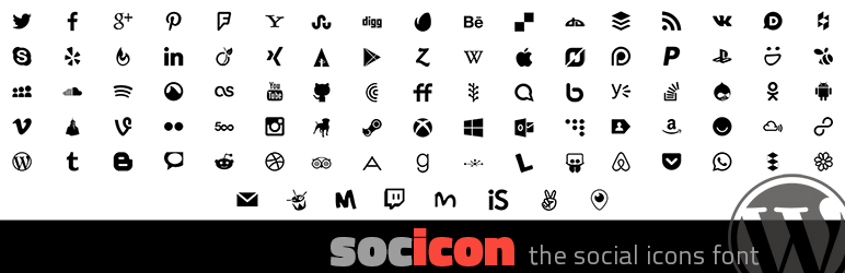 Socicon for WordPress is a lightweight alternative to FontAwesome for social icons.